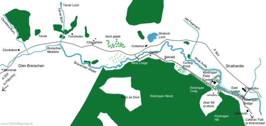 Map of Kindrogan and Strathardle