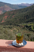 Mint tea in the hills